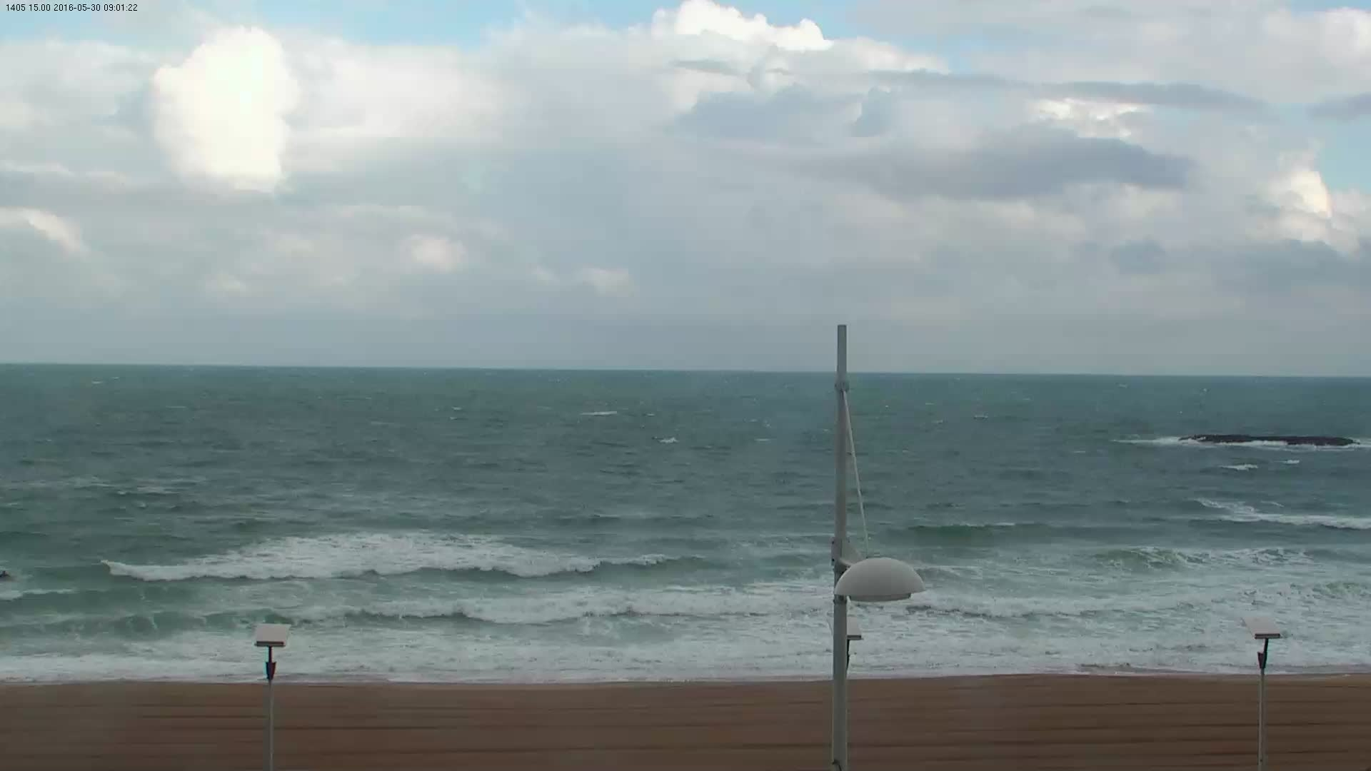 Webcam image from Biarritz Grande Plage