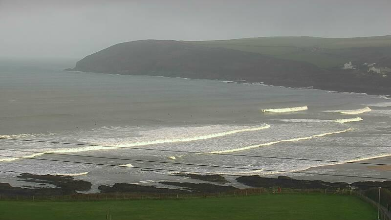 Webcam image from Croyde Beach